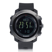 SUNROAD Men's Digital Waterproof Sports Watch-Altimeter Barometer Compass Stopwatch Hiking Swimming Camping Reloj Hombre sunroad fishing barometer watch fr720a men altimeter thermometer weather forecast 50m waterproof stopwatch smart watch black