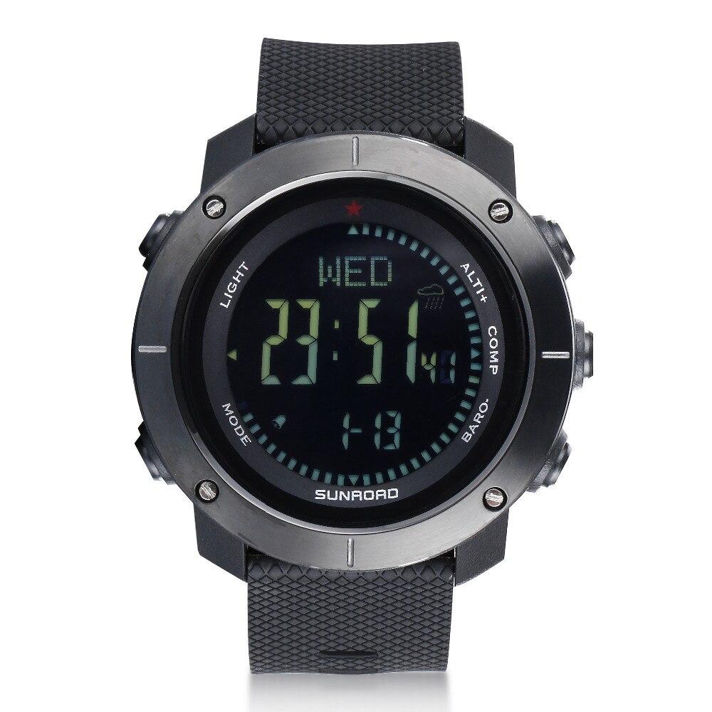SUNROAD männer Digitale Wasserdichte Sport Uhr Höhenmesser Barometer Kompass Stoppuhr Wandern Schwimmen Camping Reloj Hombre-in Digitale Uhren aus Uhren bei  Gruppe 1