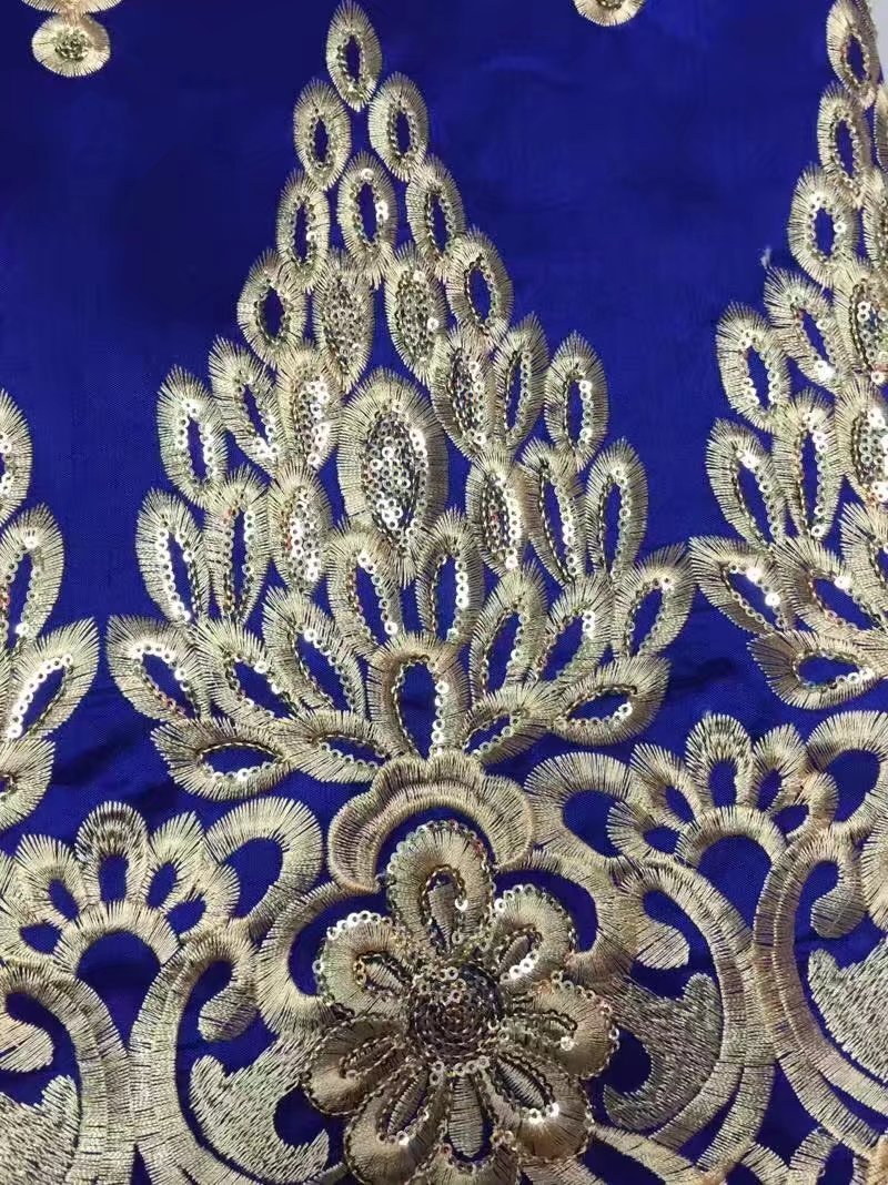 African George Lace Fabric With Sequin Fabric 2017 High Quality Latest Nigerian French Embroidery Lace Fabric For Wedding Dress-in Lace from Home & Garden    1