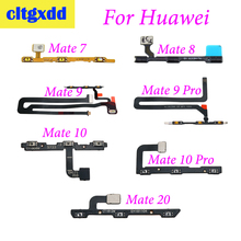 cltgxdd Power On Off Volume Up Down Button Key Flex Cable For H uawei Mate7 Mate8 Mate9 Mate9pro Mate10 Pro Mate20