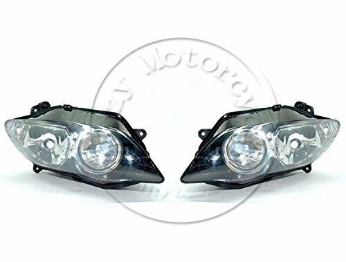 Мотоцикл передняя фара для YAMAHA YZFR1 2004 2005 2006 и YZF 1000 R1 в головной свет лампы фары освещения Мото запчасти
