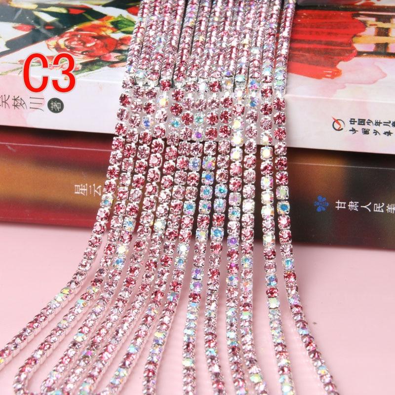 Srebrni osnovni prozirni kristal 3 mm 10m / kolut lančanih obloga - Umjetnost, obrt i šivanje