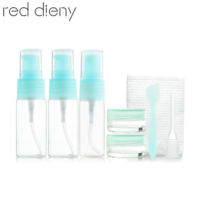 885c4f6dad89 US $2.77 26% OFF|Portable 8pcs/set Transparent Plasic Travel Shampoo Cream  Lotion Refillable Bottles Kit Pressed Water Spray Cosmetic Bottles Set-in  ...
