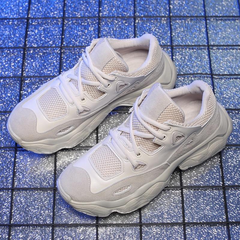 Ar Branco Ao Da Sneakers Chegada Homens Moda Sola Livre De Sapatos Novo white Confortável Misalwa Tênis Sneakers Bege Beige 2019 Men black Plataforma Sneakers Até Grossa Rendas Casuais Preto F5xHvq5z