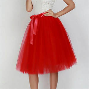 Short Skirts 7-Layers Ball-Gown Fashion Women's Summer New Lace Tulle Evening-Party Sexy