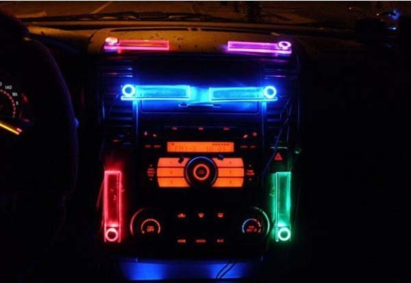 Free shipping,Car Charge Glow Interior Decorative Blue Light wholesale,car led light