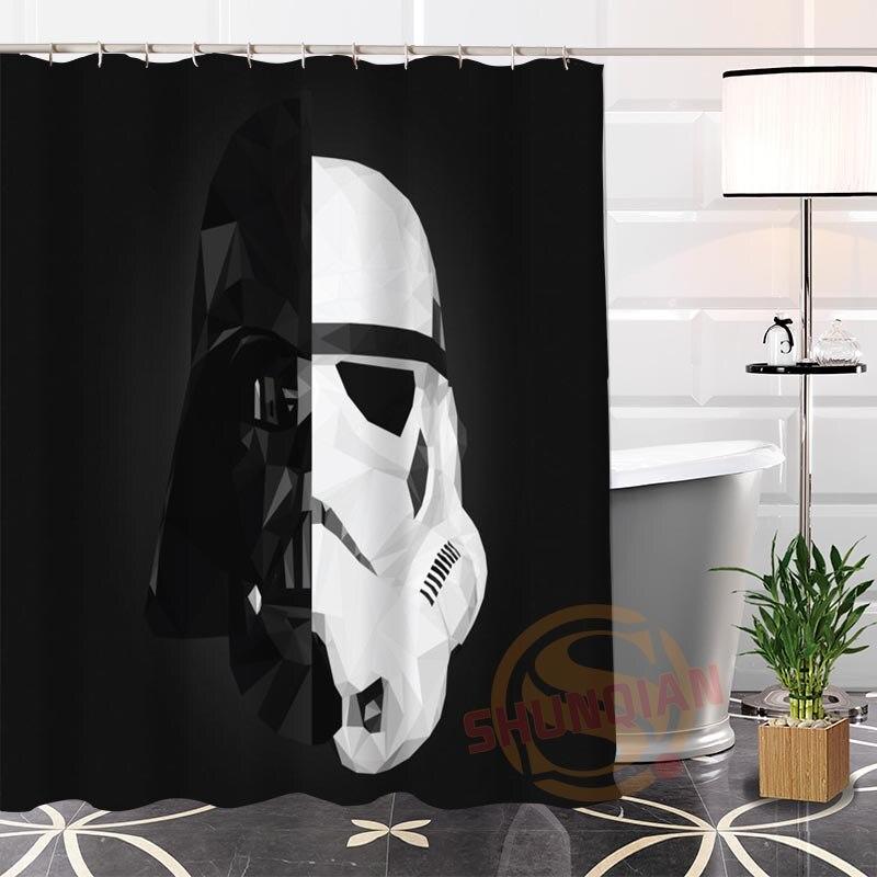 100% Polyester Custom Popular Darth Vader#2 Fabric Modern Shower Curtain bathroom Waterproof New arrival H0223-1