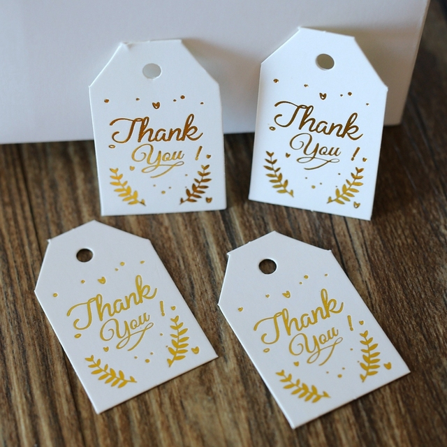 Golden Thank You Tag, Gift Tags, Wedding Thank You Tags,Thank You