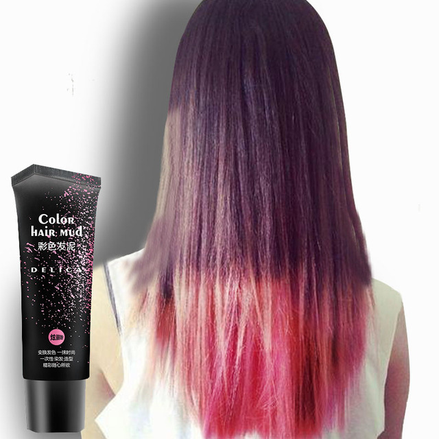 Disposable Romantic Pink Quickly Shaping Color Hair Pomade Hair