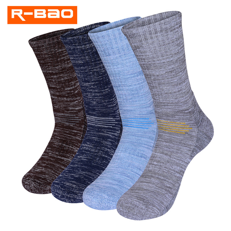 2 Pairs/Lot R-BAO Spring Winter Men Women Cotton Thick Skiing Socks Breathable Thermal Outdoor Sports Socks Hiking Terry Socks