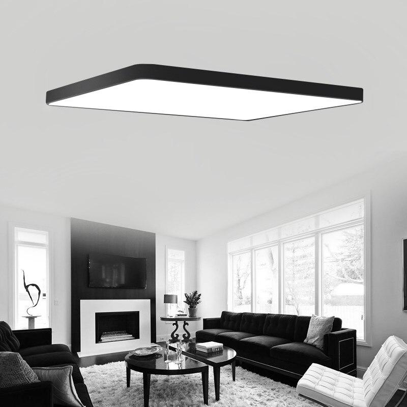 Прямоугольный пульт дистанционного управления для гостиной, спальни, кухни, современные светодиодные потолочные лампы luminarias para sala, светоди