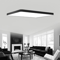 Rectangle Remote control living room bedroom Kitchen modern led ceiling lights luminarias para sala dimming led ceiling lamp