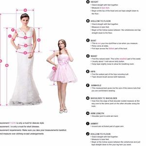 Image 5 - Różowe 2020 eleganckie sukienki koktajlowe płaszcza pół rękawy szyfonu pióro łuk eleganckie krótkie sukienki na powrót do domu