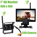 DIYKIT Transmissão Sem Fio HD 800x480 de 7 polegadas Monitor Do Carro IR CCD Rear View Camera Backup para Carro Bus Truck Caravan Trailer RV