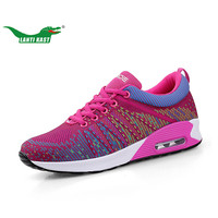 LANTI KAST Women Running Shoes Popular Trend Mesh Air Cushion Sneakers For Girls Breathable Durable Sport