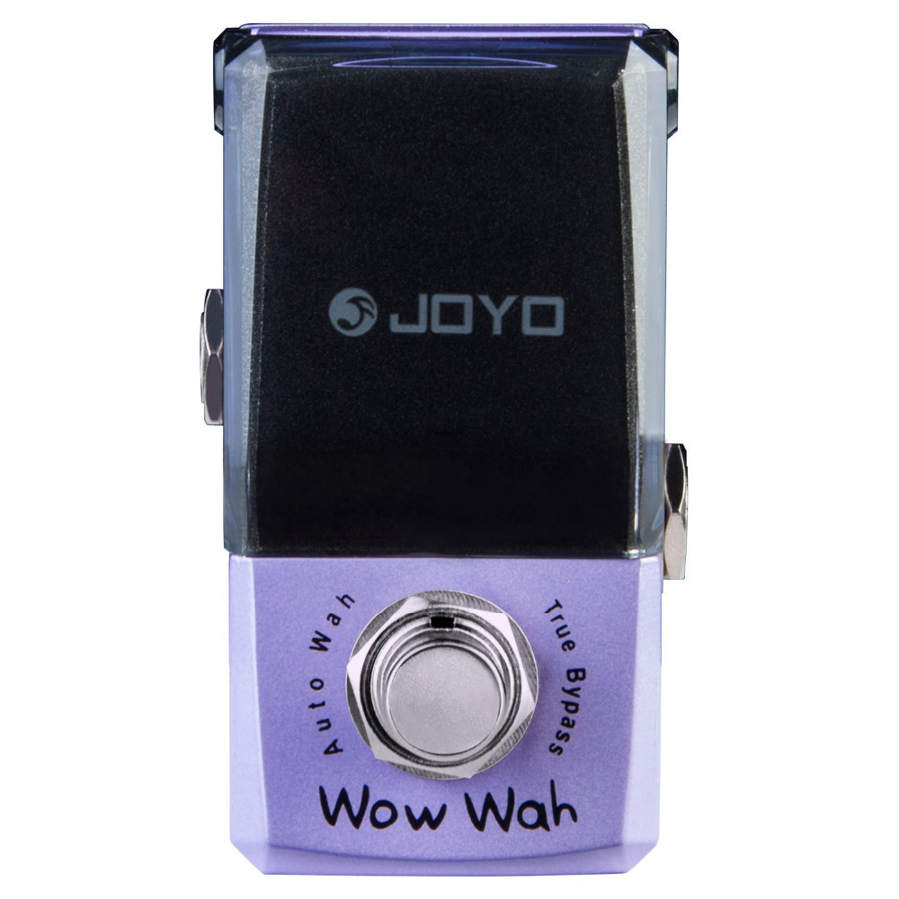 JOYO JF-322 Wow Wah Auto Wah Mini Electric Guitar Effect Pedal with Knob Guard True Bypass joyo ironman orange juice amp simulator electric guitar effect pedal true bypass jf 310 with free 3m cable