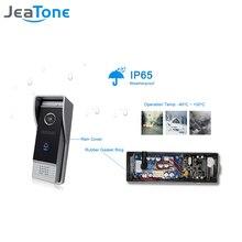 JeaTone 4 Проводной видео-телефон двери 1200TVL дверной звонок Водонепроницаемый Пинхол объектив