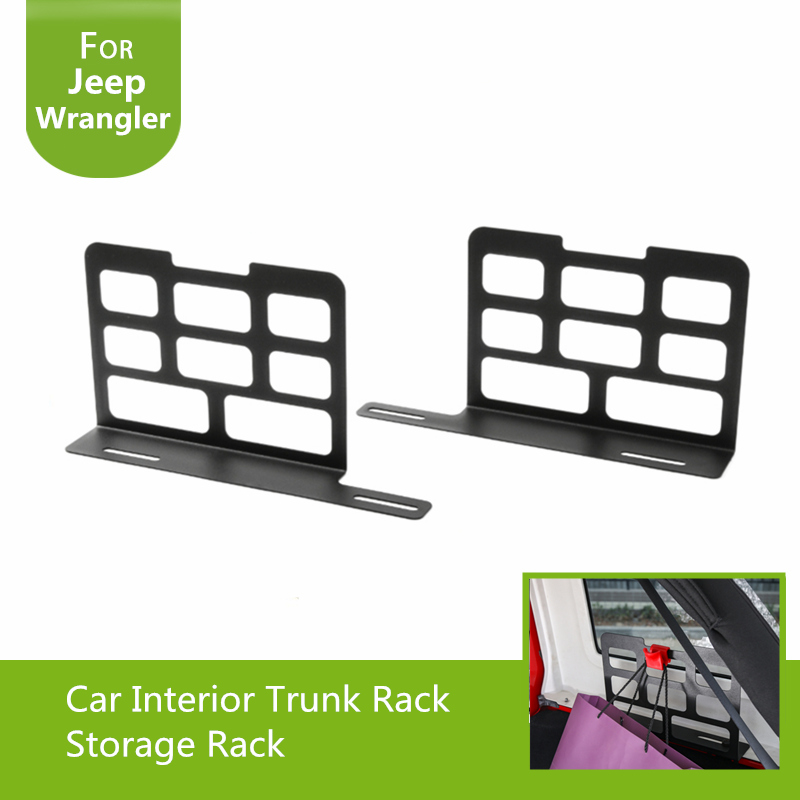 Tailgate Storage Shelves Metal Trunk Rack Storage Rack Fit Jeep Wrangler 2007+ Car & Truck Parts