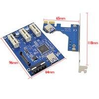PCI E 1 To 3 PCI Express 1X Slots Riser Card Mini ITX To External 3