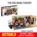 NUEVA Lepin 16024 534 Unids IDEAS Serie El Big Bang Set Educativos Building Blocks Ladrillos Compatible Niños Juguetes de Regalo 21302