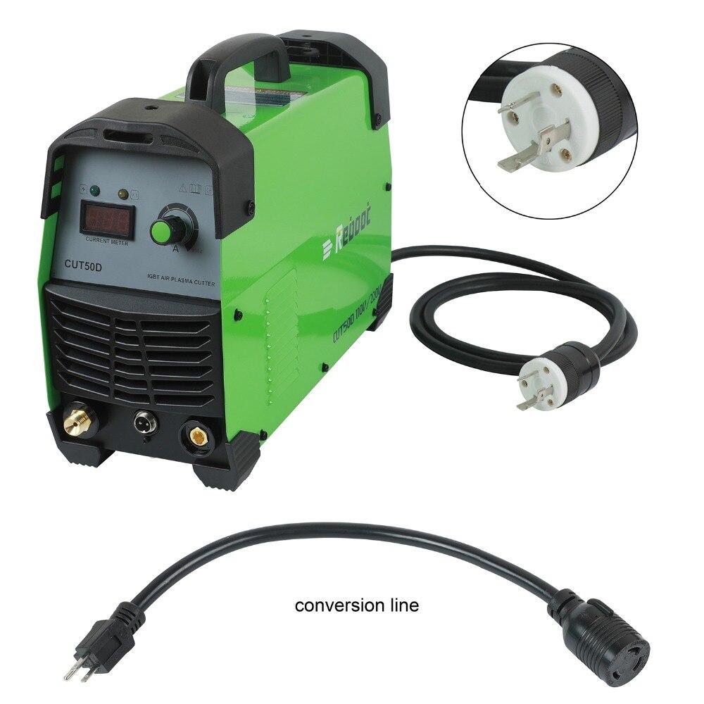 Plasma Cutter 50Amps Automatic 110 220V Dual Voltage Compact Metal Cutter AC 1 2 Clean Cut