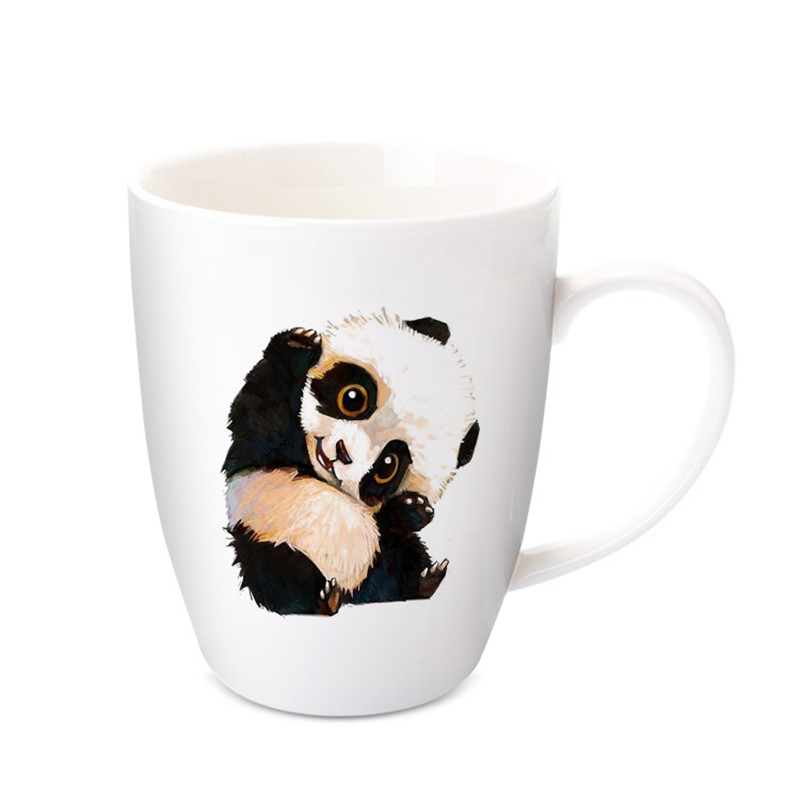 2018 Chinese Kawaii Cartoon Panda Mugs handmade ceramic cup water bottles coffee mugs milk mugs tea cups Best Gifts For Kids