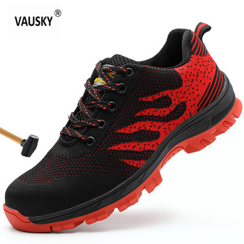 New safety shoes sneakers Men Shoes Fashion large size anti-smashing Steel Nose anti-piercing mens Women's Work Shoes 35-46