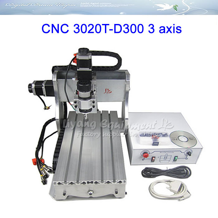 300W DC power spindle motor cnc router 3020T-D300 cnc engraving machine, upgraded from CNC 3020T spindle 200w motor air cooling cnc spindle dc motor cnc engraving machine er11 3 175mm collets machine tool