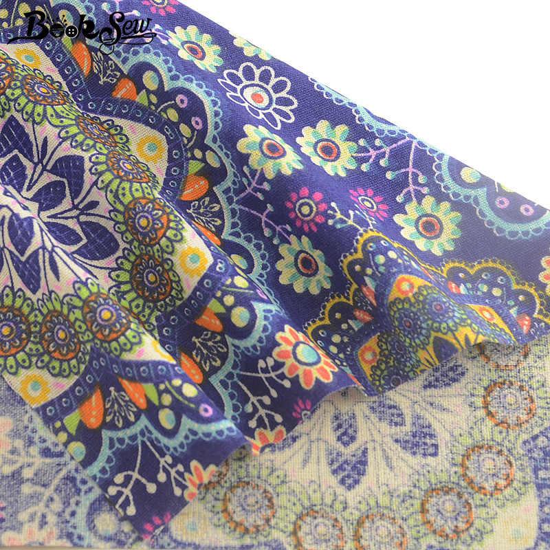 Booksew Katoen Linnen Afrikaanse Ankara Stof Bloemen Paars Tecidos De Patchwork Naaien Doek DIY Tas Gordijn Tissu Tecido Tela