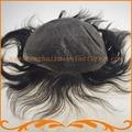 Бесплатная доставка 100% волос remy индейца 0.12 шнурка невидимый узел волос фондовые мужчины парик реми волосы мужские парики шнурка системы