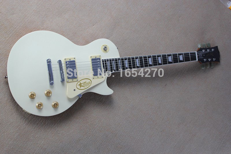 Free Shipping 2017 new Arrival Cream White Les Standard Electric Guitar Quality Guarantee Hot Guitar In Stock     150903 human free shipping hot guitar electric guitar olp yellow white double shake guitar good quality beautiful