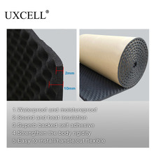 UXCELL 50*100/200/300/500CM Sound Deadener Insulation Mat Noise Heat Shield Insulation Automotive Deadening Foam Cotton Sound