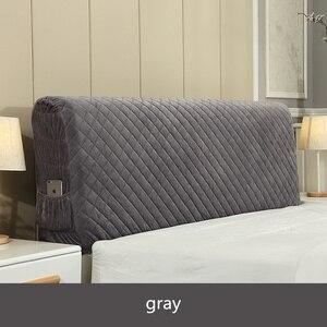 Image 4 - İskandinav tarzı yatak örtüsü 120 220cm herşey dahil kumaş nevresim toz geçirmez elastik çift yatak başlığı kapağı koruyucu kapak
