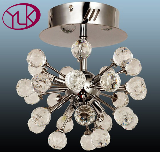 Free Shipping Modern Crystal Light Chandelier For Ceiling 6-lights Lustres De Cristal Lamp For Hallway Dia22*h25cm