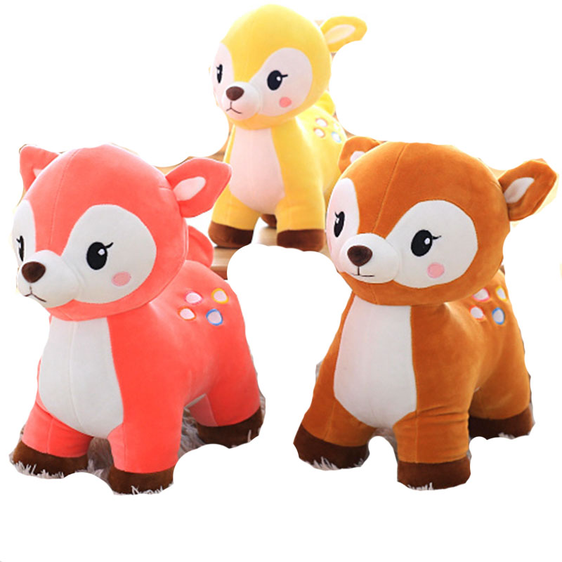 Living room decorate Stuffed plush Sika Deer doll baby kids toy 25-40cm 2018 New style standing deer plush toys