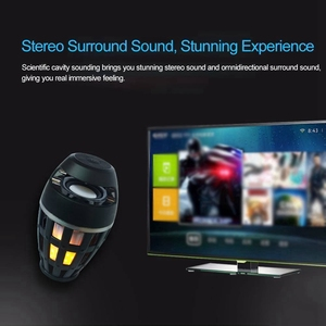 Image 3 - 2In1 Flame Atmosphere Lamp Light Bluetooth Speaker Portable Wireless Stereo Speaker With Music Bulb Outdoor Camping Woofer