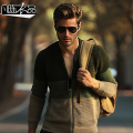 New casual Men's male Military fashion winter winter baseball collar zipper cardigan sweater all-match casual wool Cardigan