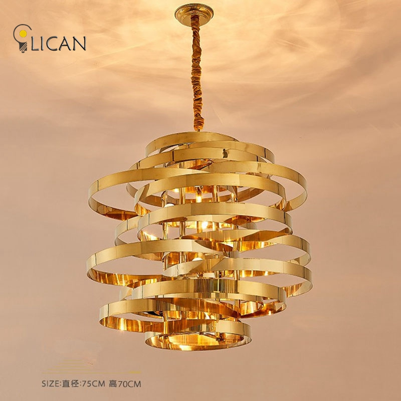 Lican modern gold pendant lights hardware modern pendant lamp for lican modern gold pendant lights hardware modern pendant lamp for dining kitchen room foyer metal white pendant lightings in pendant lights from lights mozeypictures Choice Image