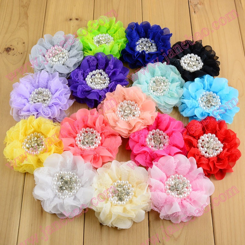 Free shipping 50pcs silk flower hair clips sew flower clips with free shipping 50pcs silk flower hair clips sew flower clips with clips peal hair accessories hair bows in hair accessories from mother kids on mightylinksfo