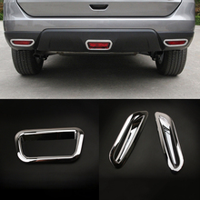 For Nissan X-Trail X Trail T32 Rogue 2014 2015 2016 ABS Rear Fog Lamp Light Protector Sticker Decoration Cover Trim sticker for mercedes benz smart fortwo 2015 abs rear tail lamp light cover protector trim