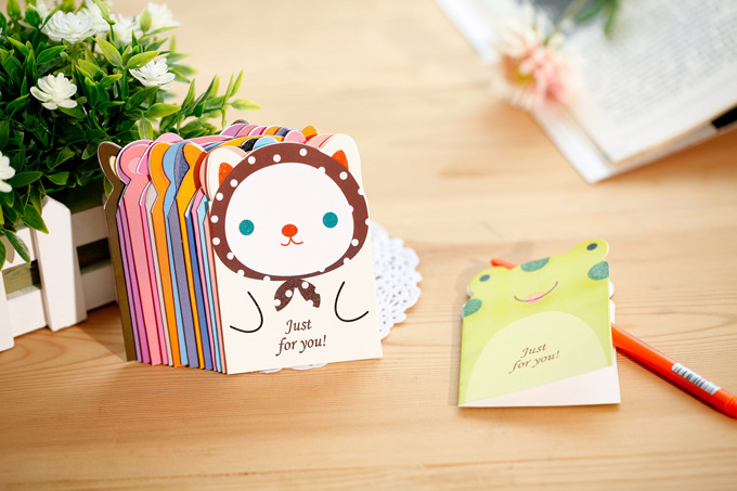 50pc 11 8cm mini small size thank you cute cartoon greeting card
