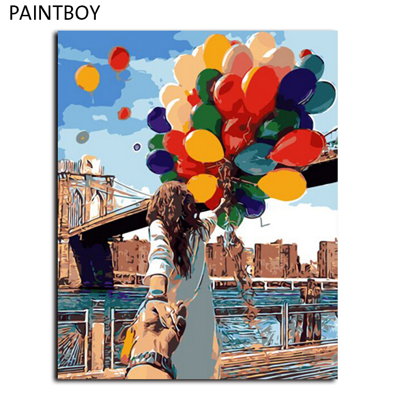 PAINTBOY Framed Picture Painting By Numbers Home Decor DIY Digital Canvas Oil Painting Home Decoration 40*50cm Picture