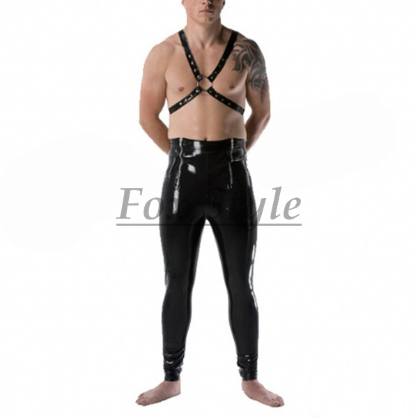 Free shipping latex font b leggings b font for men