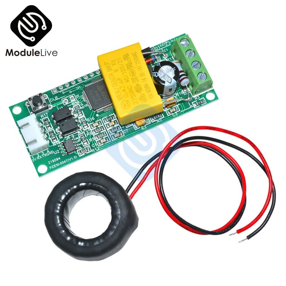 AC multifunción Digital medidor de vatios de potencia Volt Amp actual módulo de prueba PZEM-004T para Arduino TTL COM2 \ COM3 \ COM4 0-100A 80-260 V