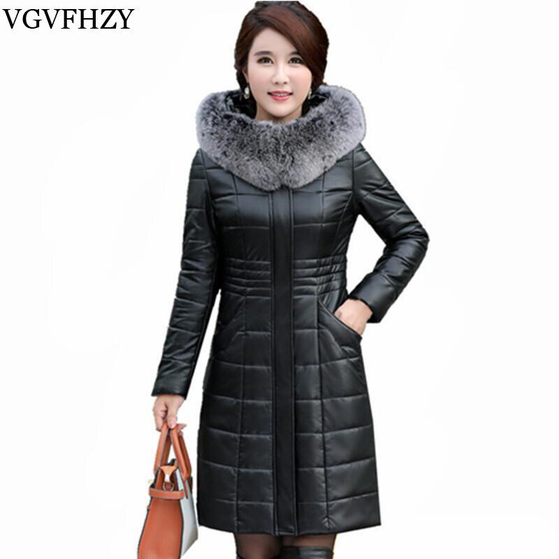Fashion Winter Jacket Women Fox Fur Collar White Duck Down Jackets Warm Coat Female Thick Parka Casaco Feminino Plus size L 8XL