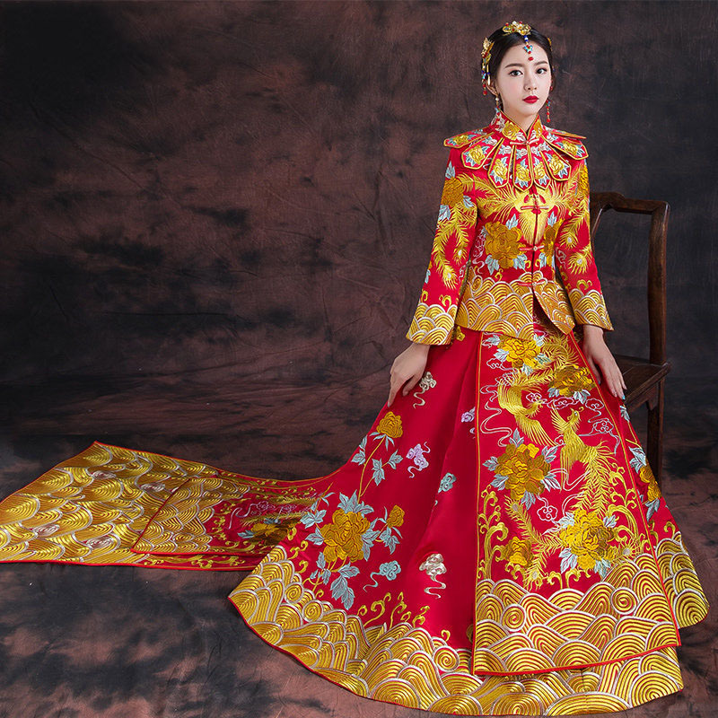 Chinese Wedding Gowns: Show 2018 Summer Clothing Pratensis Dragon Gown Vintage