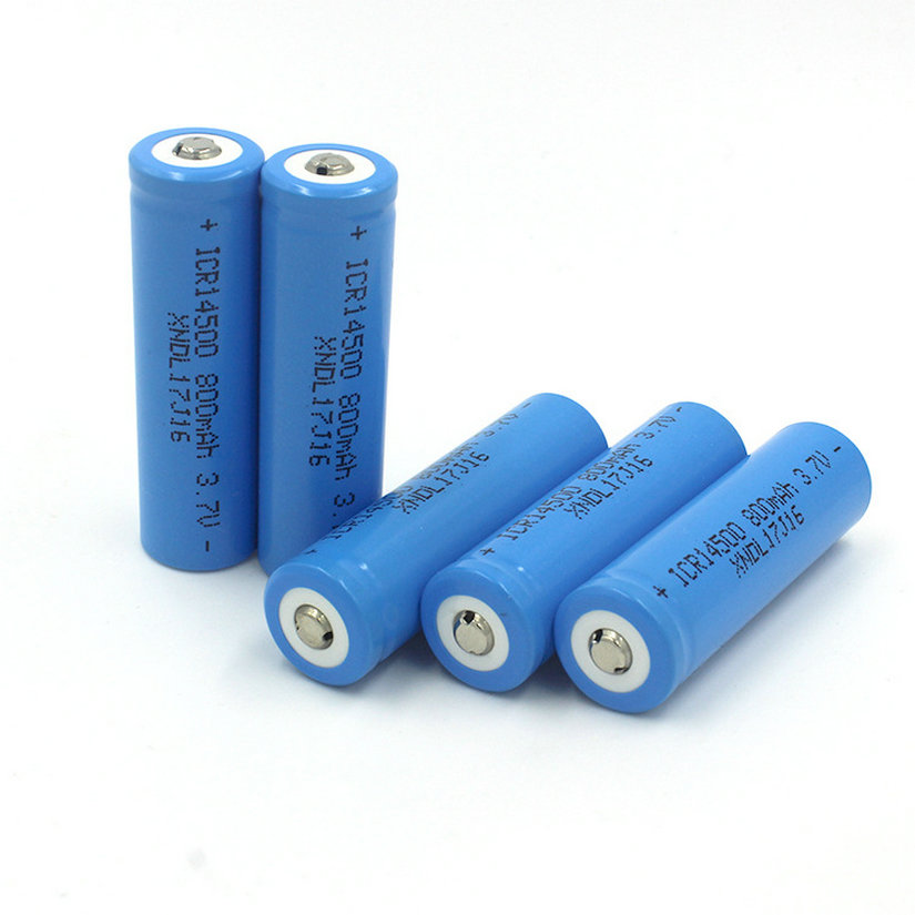4pcs/Lot Fast Shipping 14500 800mAh 3.7V Li-ion Rechargeable Battery 14500 HIGH CAPACITY FOR FLASHLIGHT
