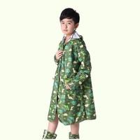 Transparent Cartoon Dinosaur Raincoat For Children Kids Rain Poncho Coat Child Sets Chubasqueros Capa De Chuva