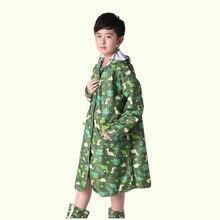 Transparent cartoon dinosaur Raincoat For Children Kids Rain Poncho Coat Child Sets Chubasqueros capa de chuva infantil