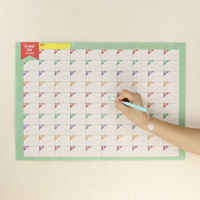 2PCS 100 Day Countdown Calendar Office School Supplies Learning Schedule Periodic Planner Table Calendar(China (Mainland))